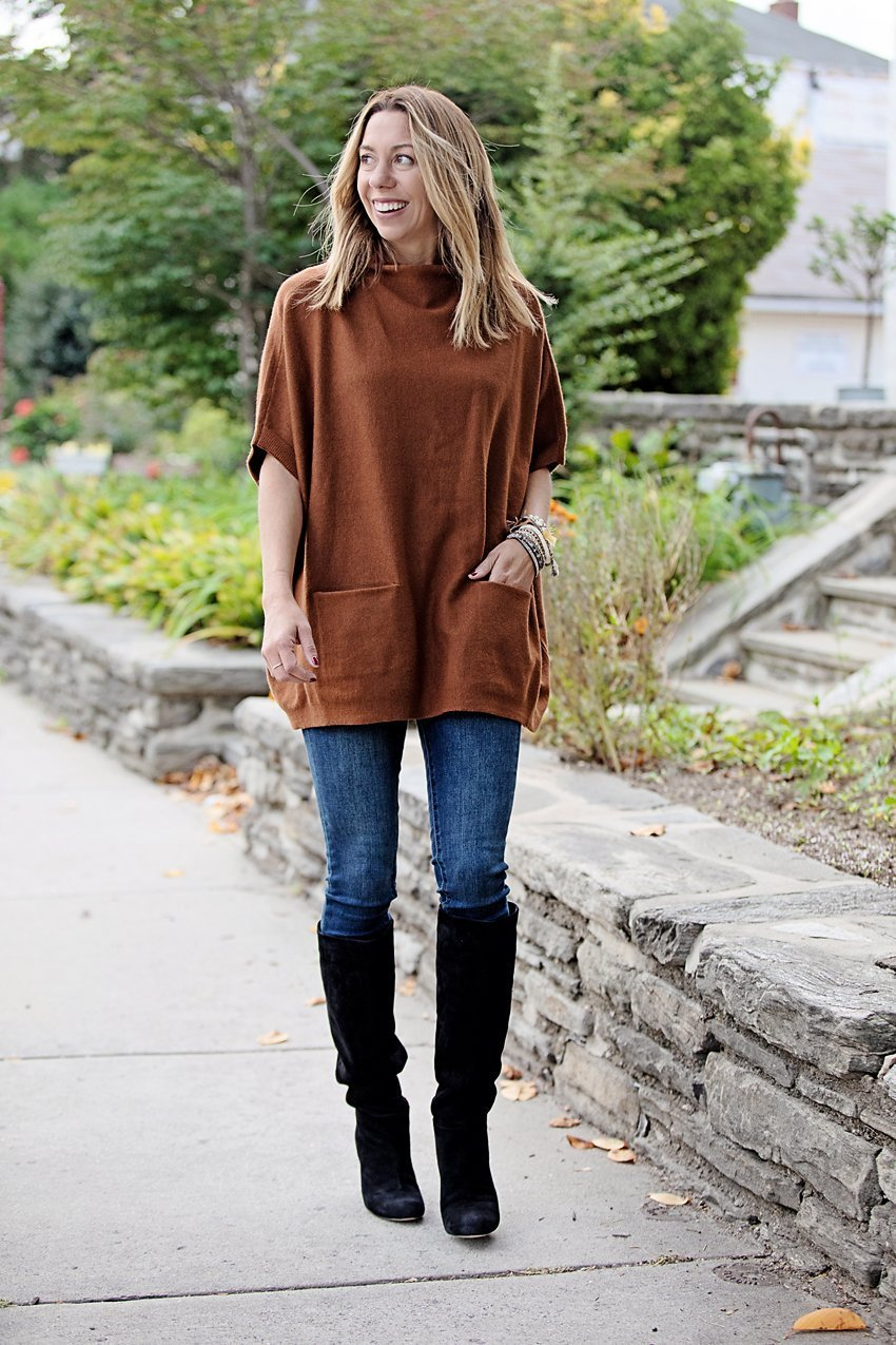 The Motherchic wearing Sam Edelman boots from QVC