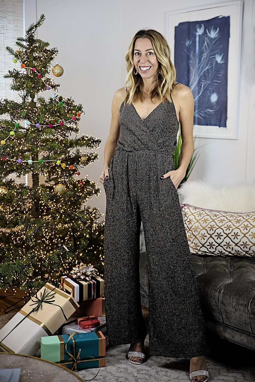 The Motherchic wearing Chelsea28 jumpsuit