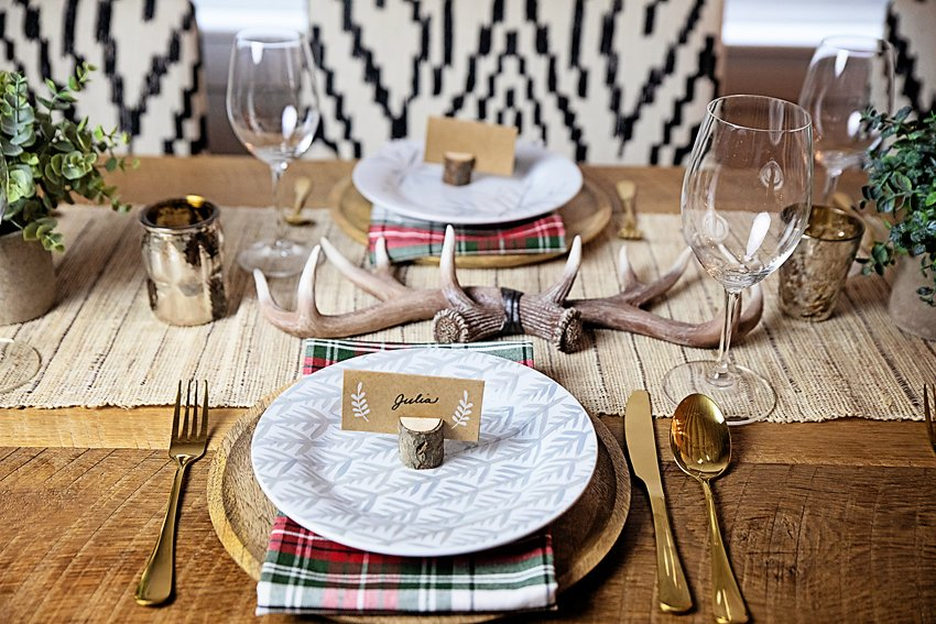 The Motherchic holiday table setting from amazon