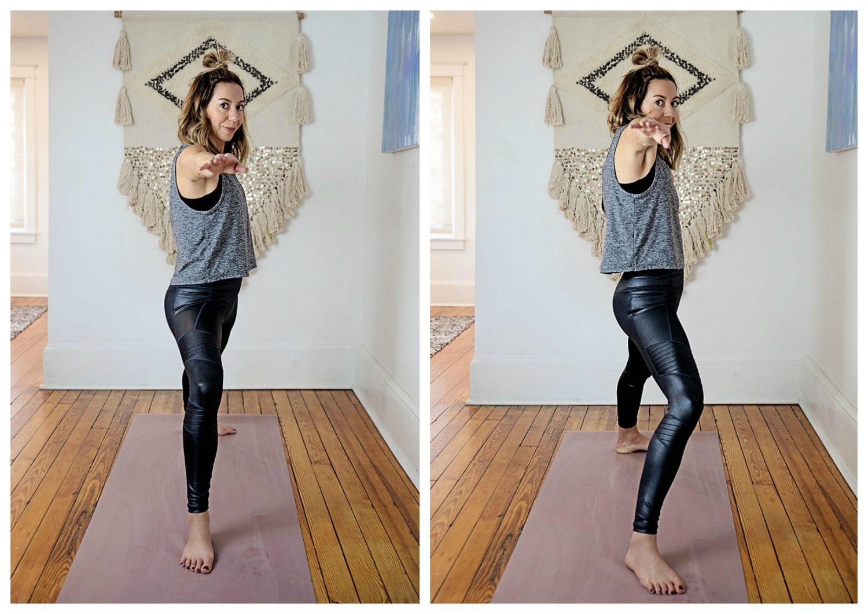 the motherchic yoga athleta leggings