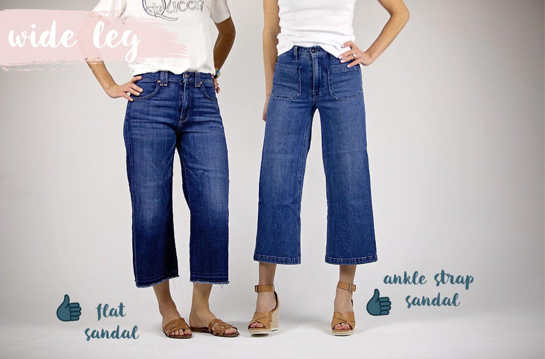 the motherchic wearing wide leg jeans