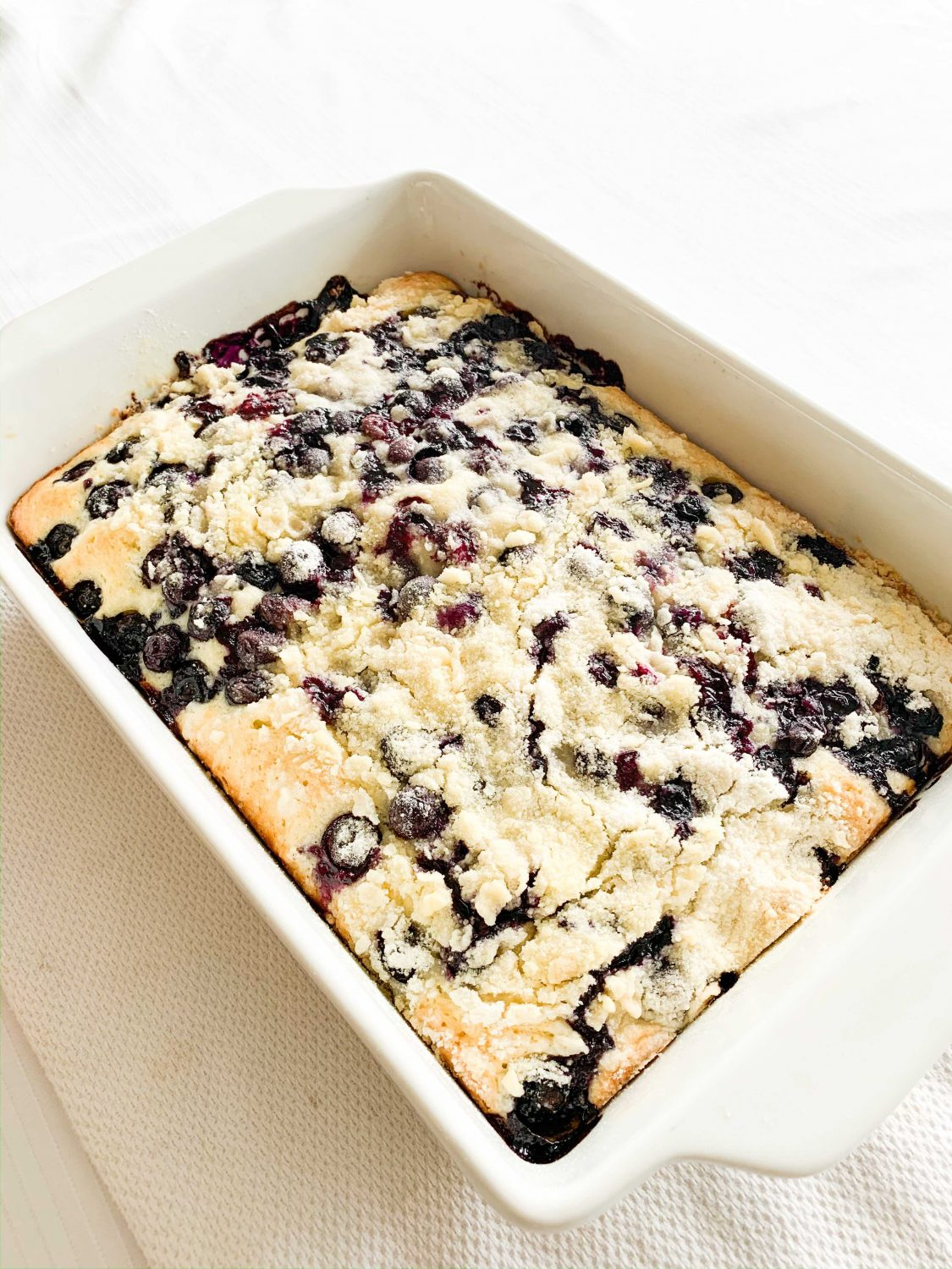 The Motherchic blueberry snack cake