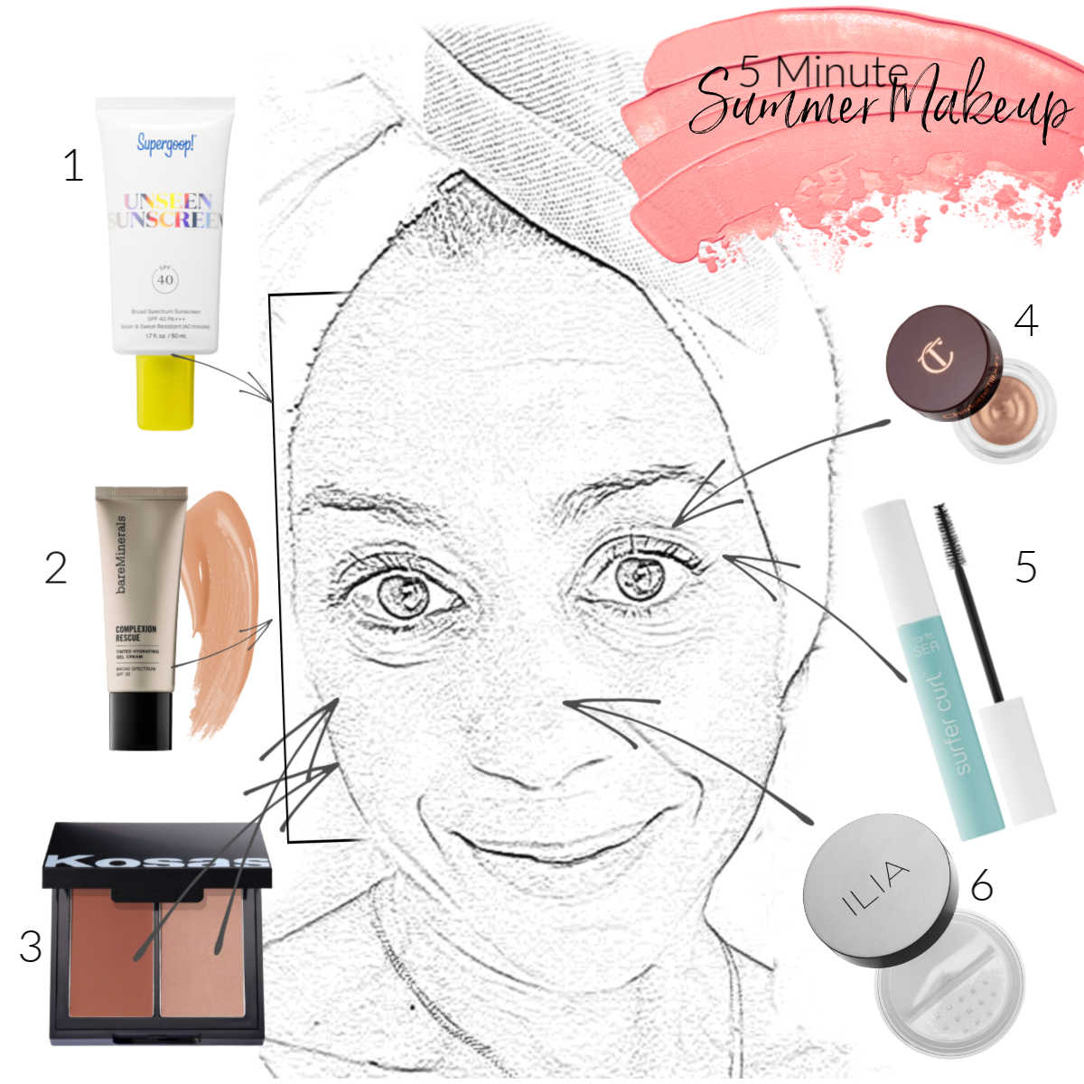 The motherchic 5 minute make up
