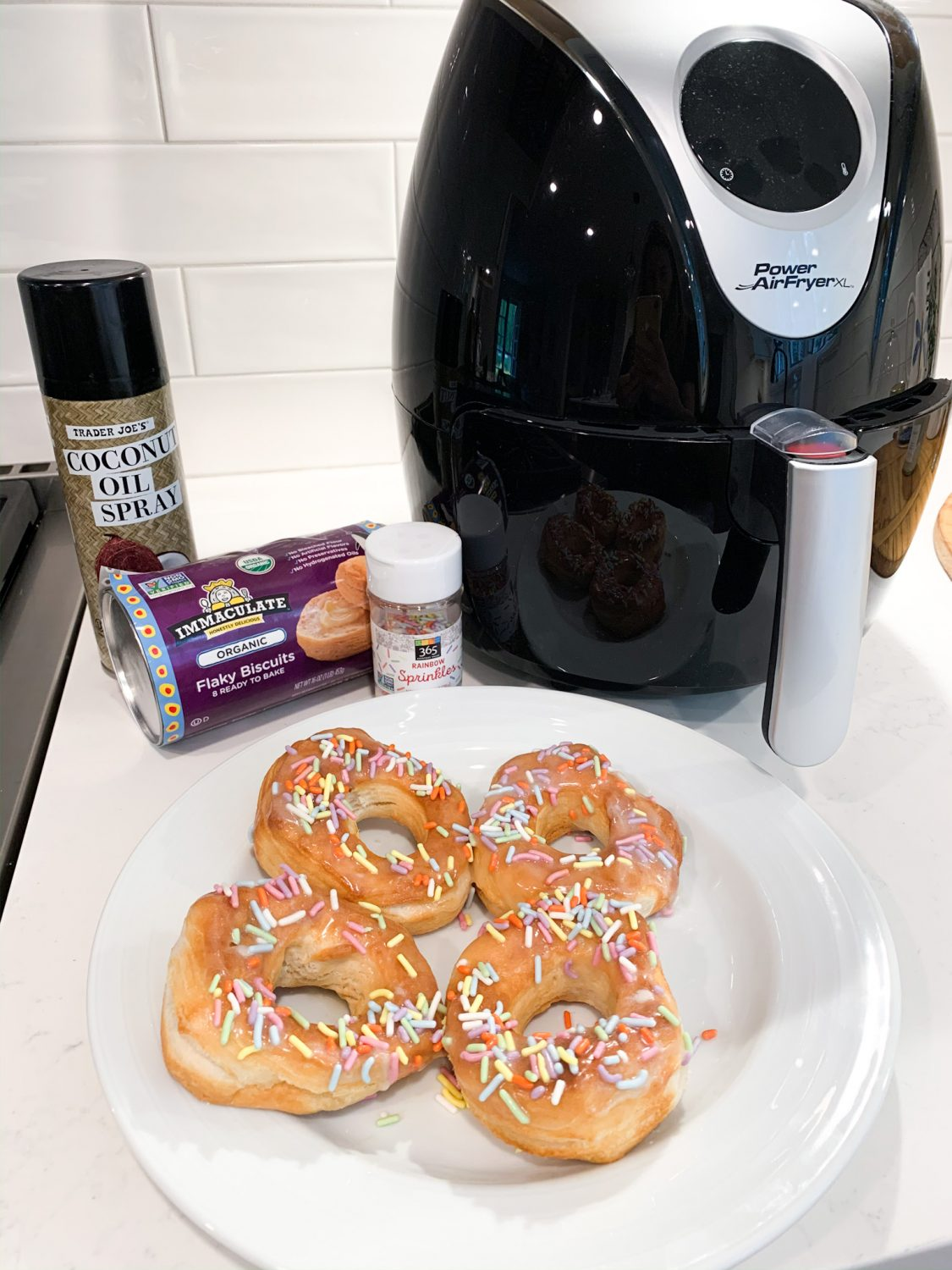 the motherchic air fryer donuts