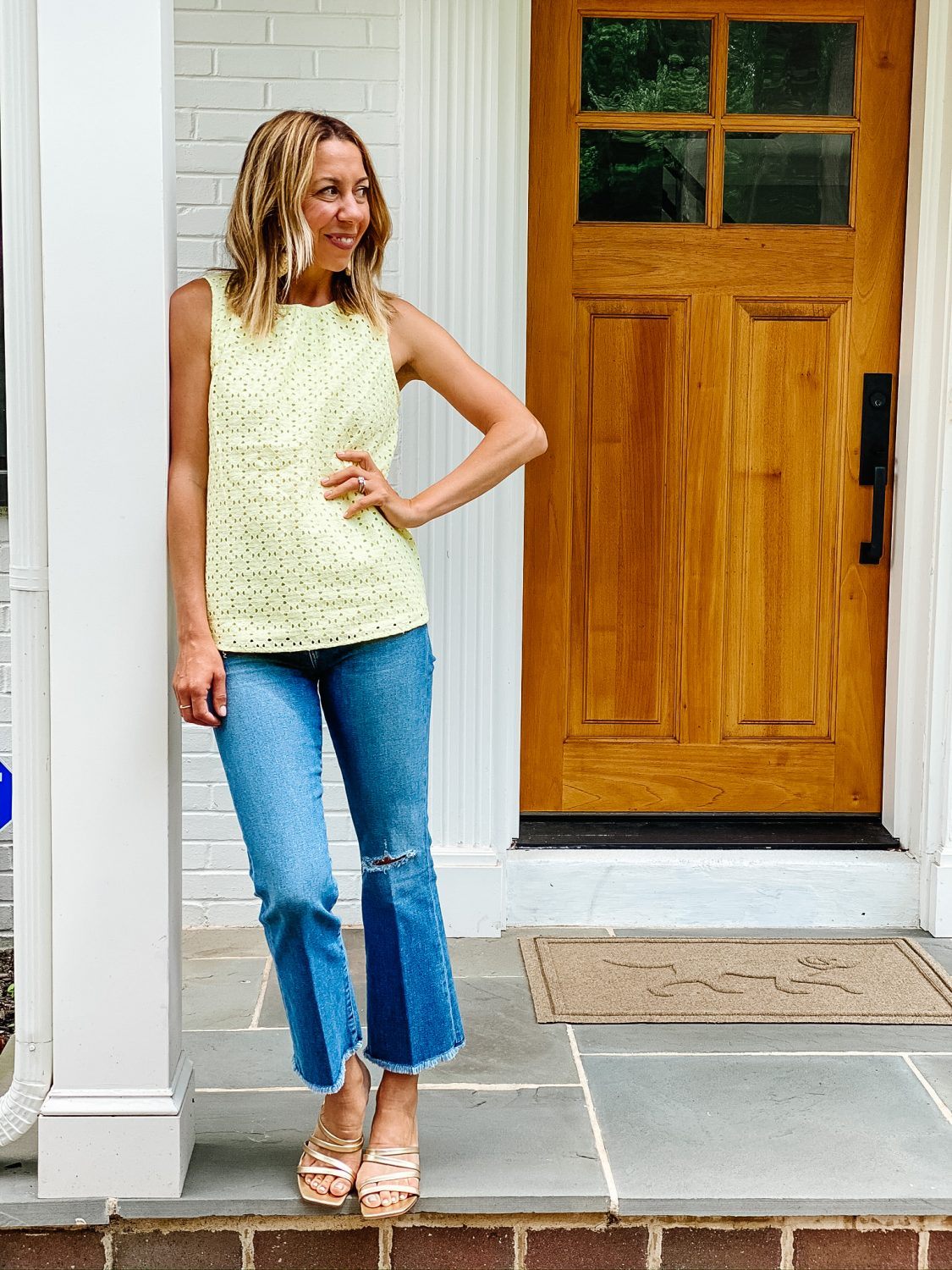 The Motherchic 1901 eyelet top from Nordstrom
