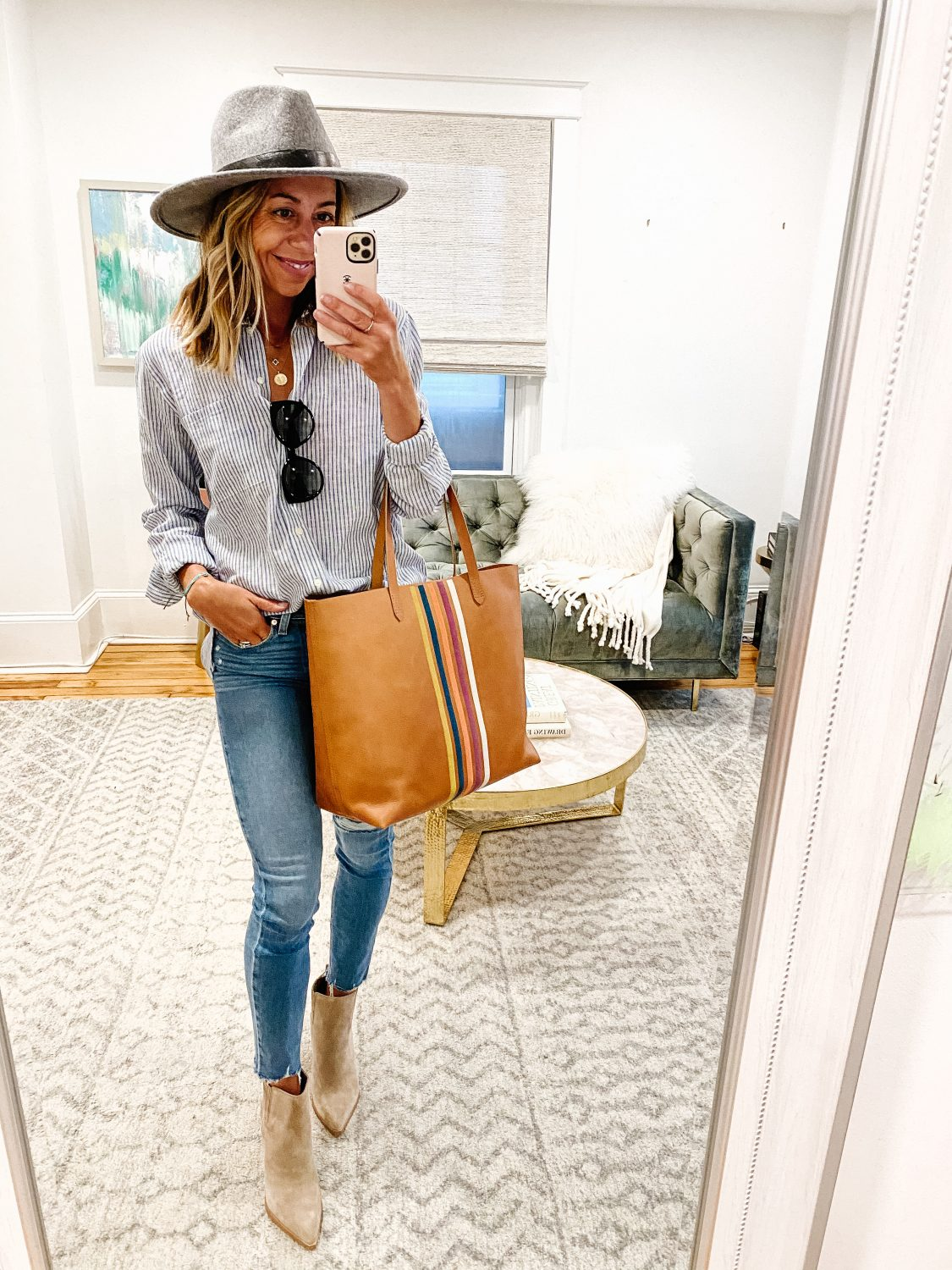 the motherchic nordstrom anniversary sale treasure and bond shirt madewell tote