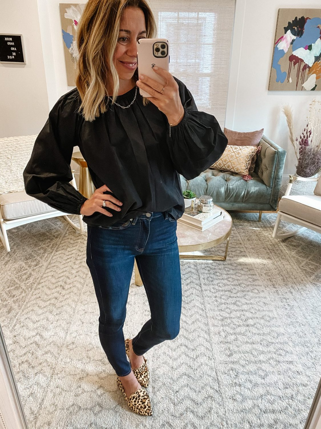 the motherchic wearing amazon top the drop