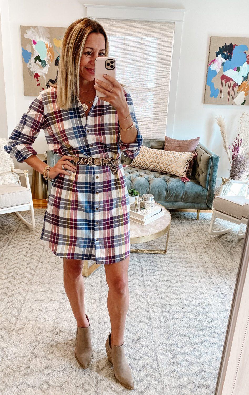 the motherchic wearing amazon haul dress