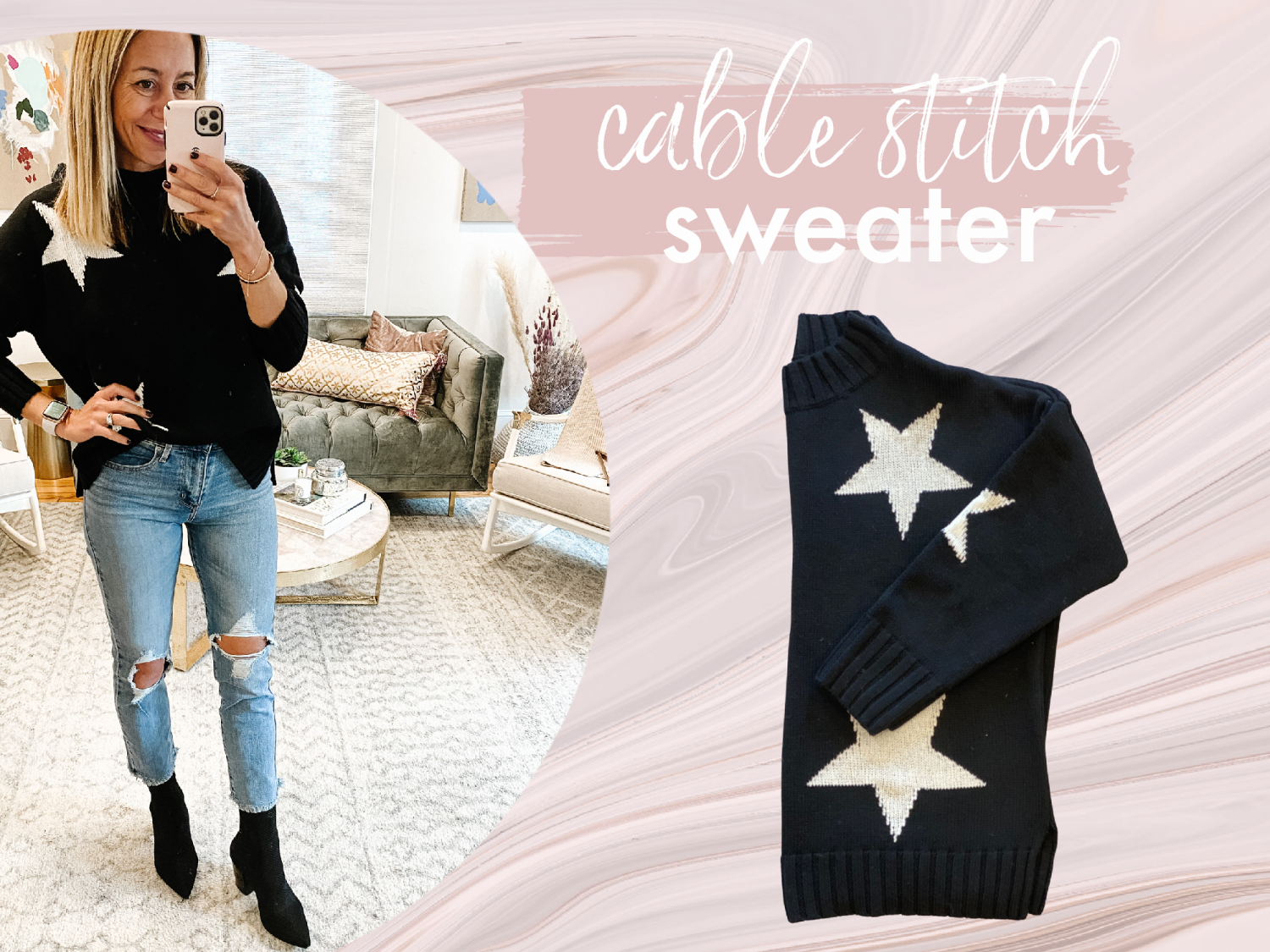 the motherchic wearing favorite amazon sweaters cablestitch