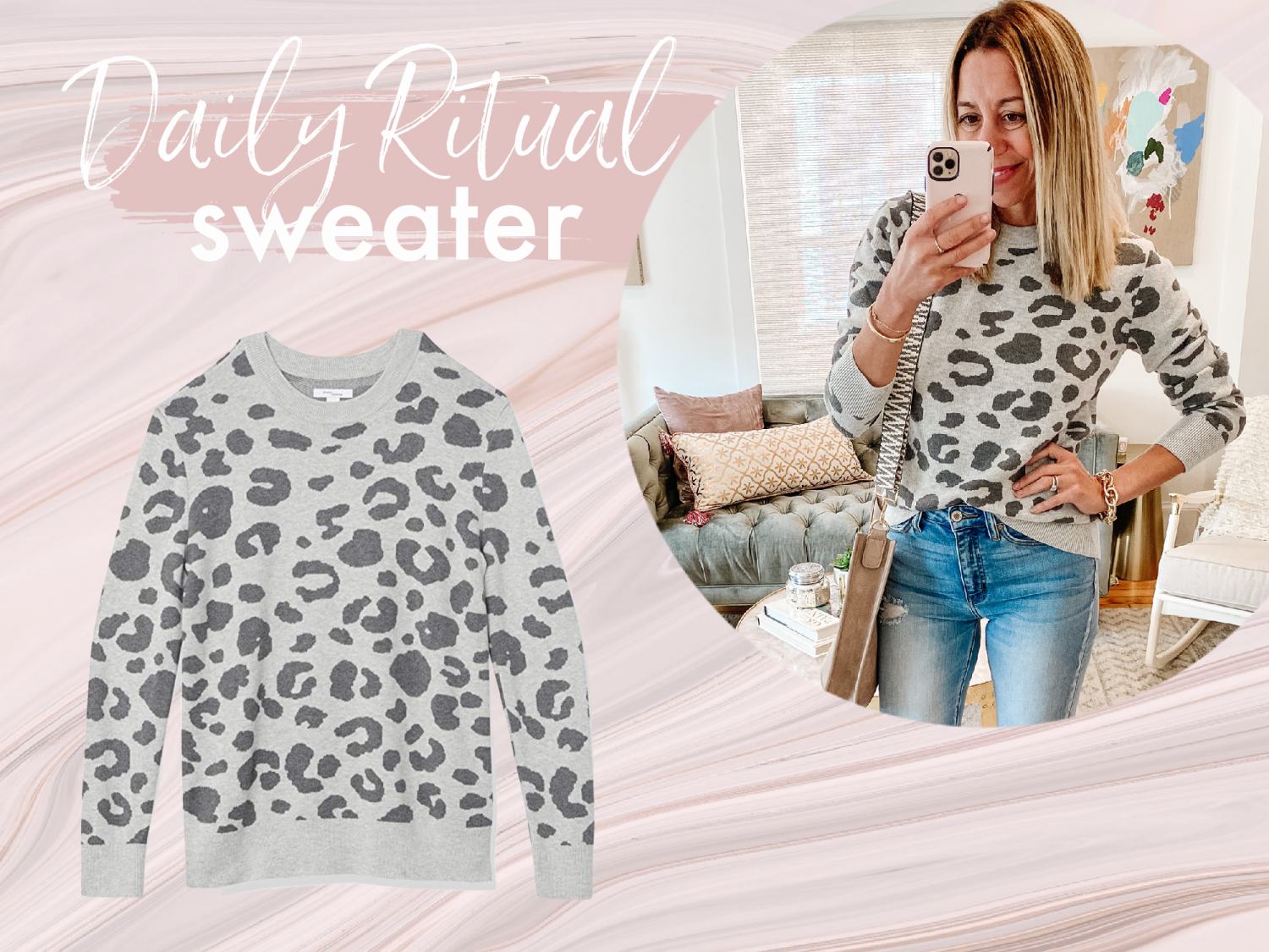the motherchic wearing favorite amazon sweaters daily ritual