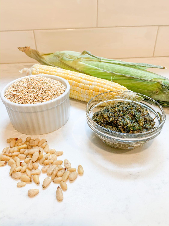 quinoa pesto the motherchic