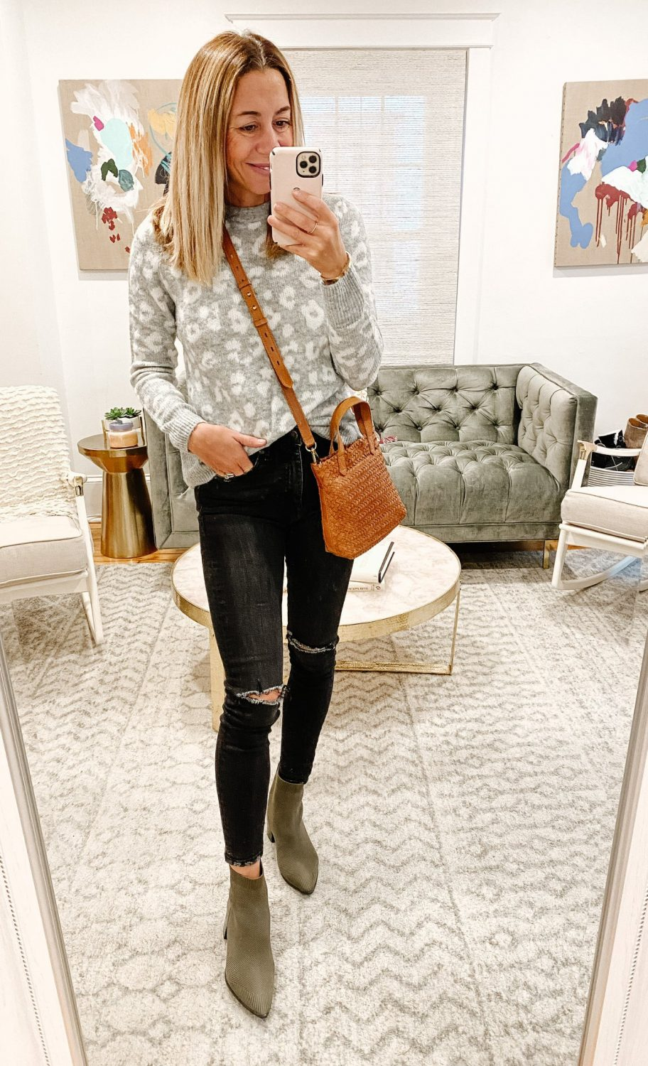 the motherchic thanksgiving outfit leopard
