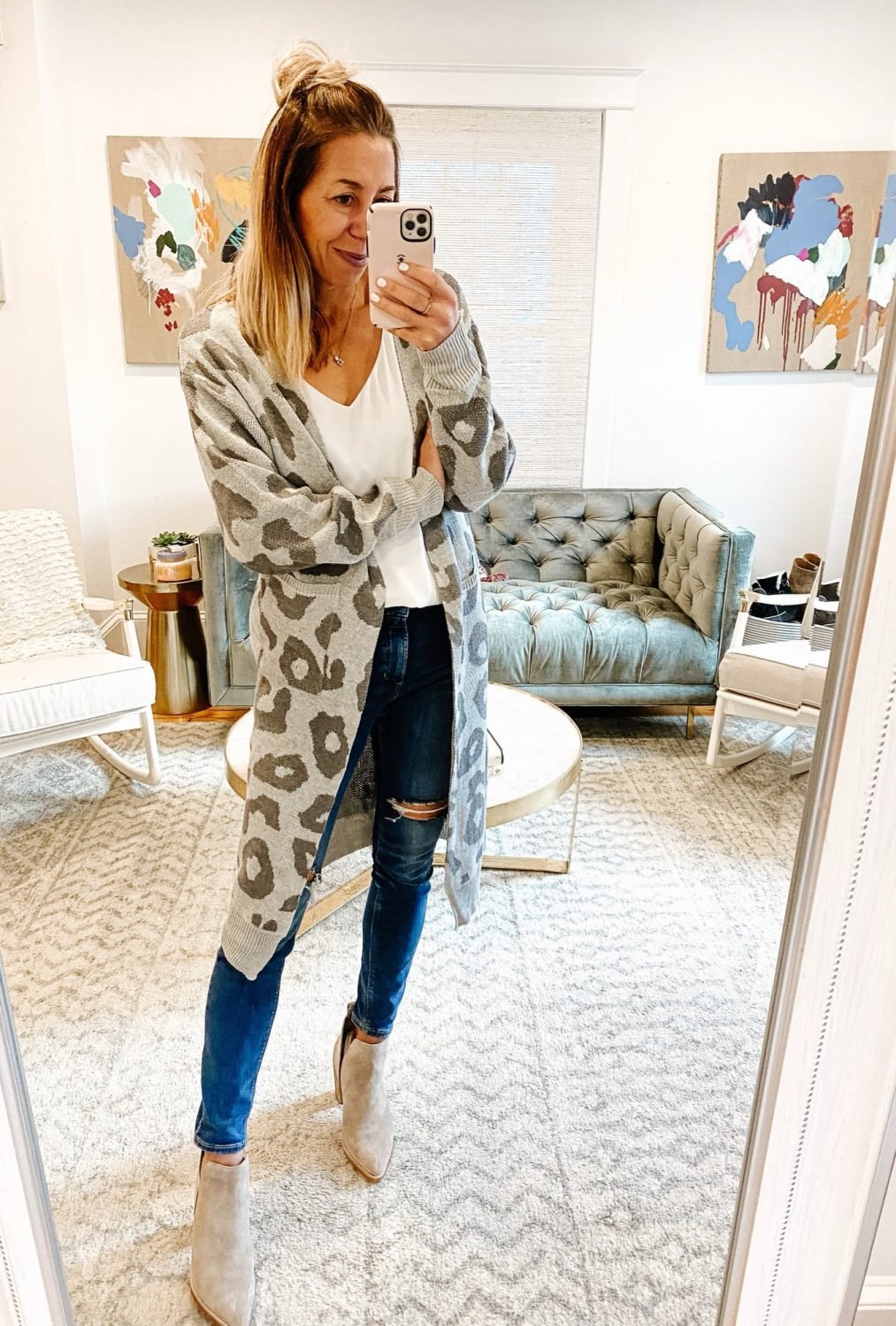 the motherchic thanksgiving outfit amazon cardigan