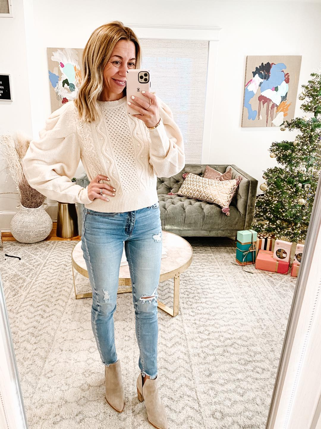 the motherchic thanksgiving outfit express sweater
