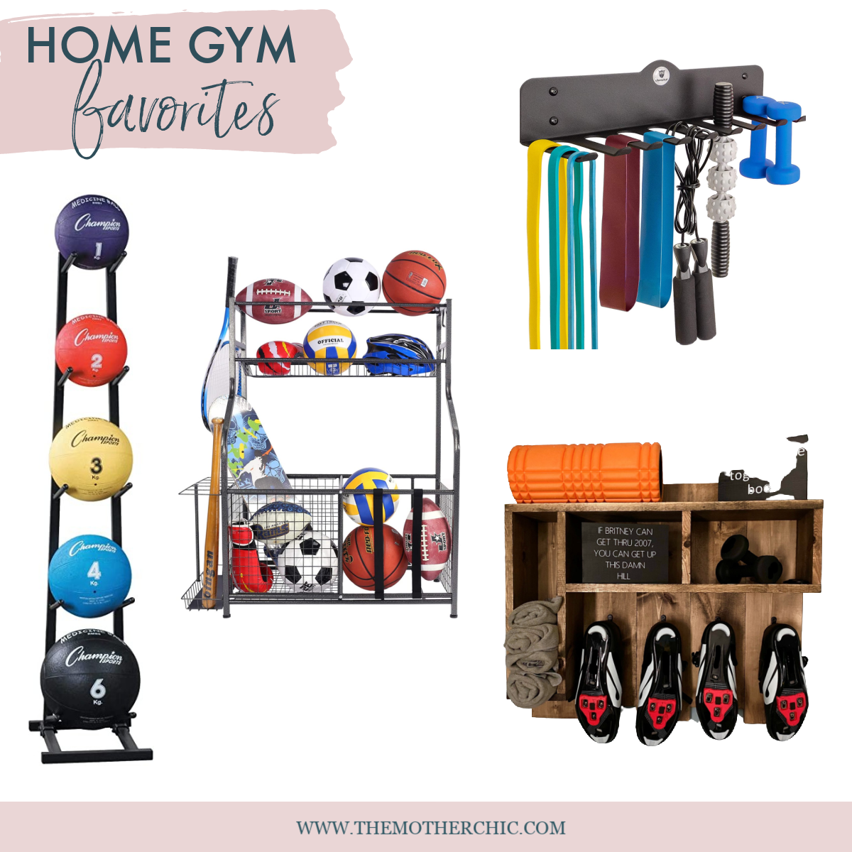 the motherchic home gym organization