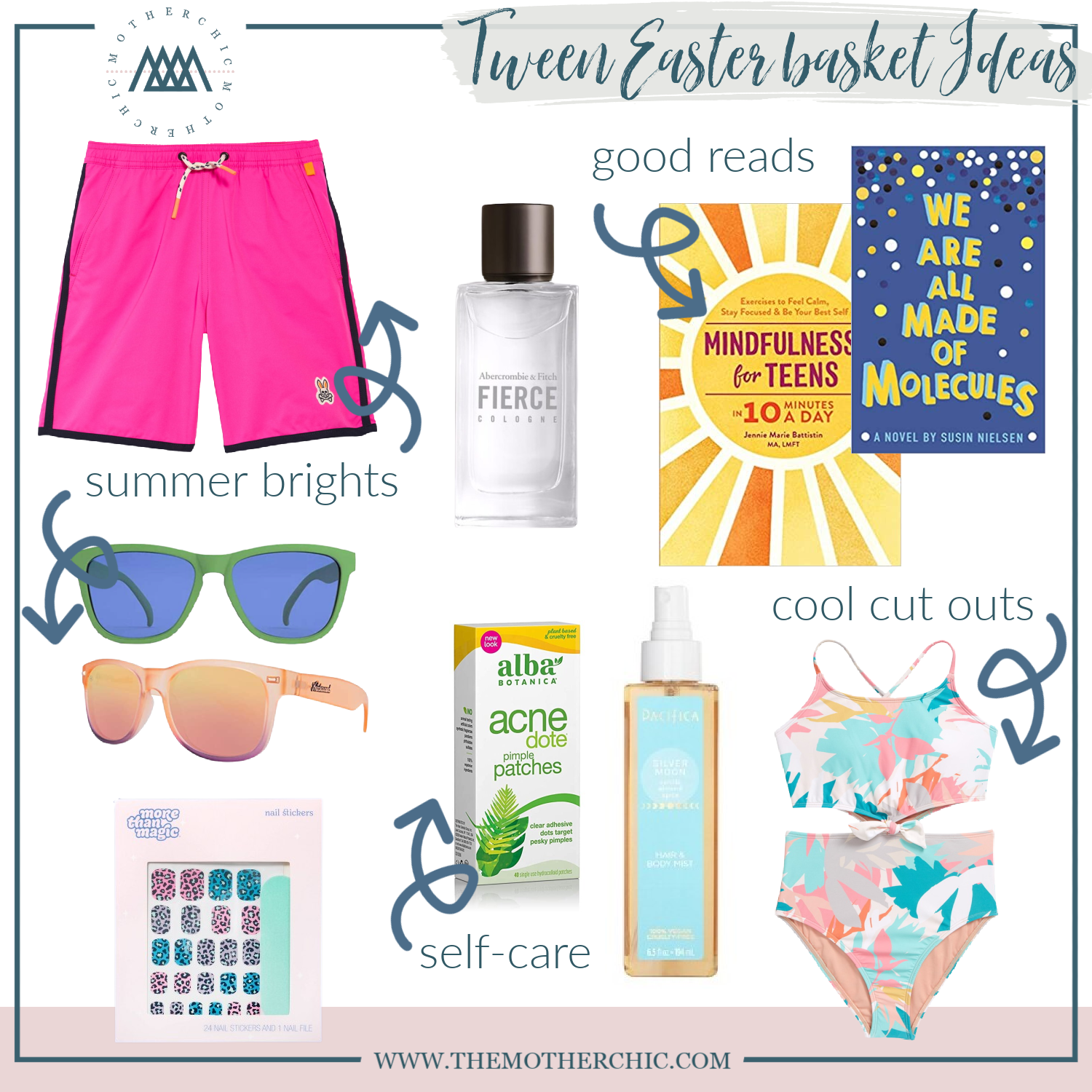 the motherchic easter basket ideas for kids