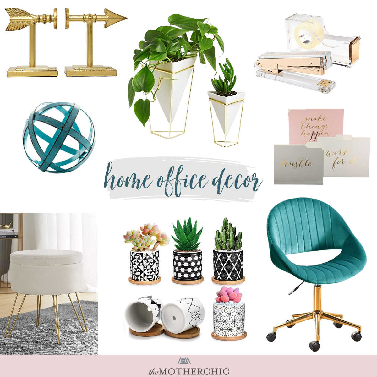 the motherchic amazon home office decor