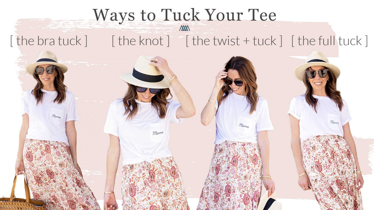 The Motherchic showing how to knot your tee