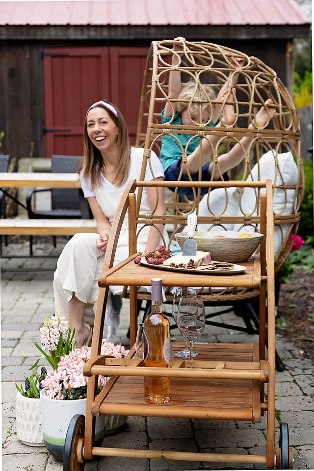 The motherchic outdoor haven in egg chair from Bed Bath & Beyond
