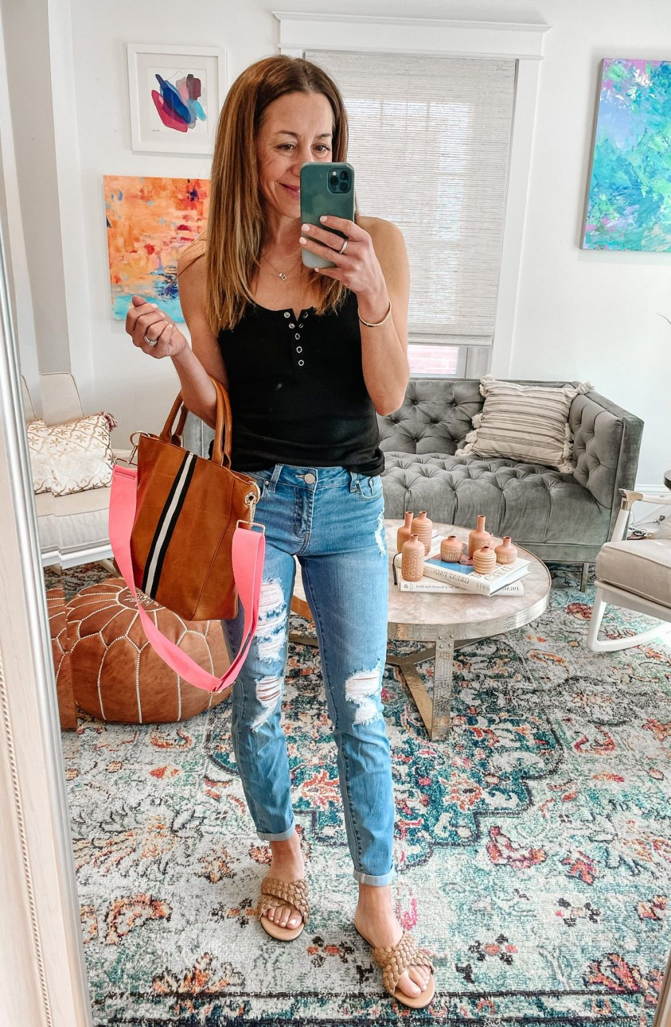 the motherchic wearing amazon jeans