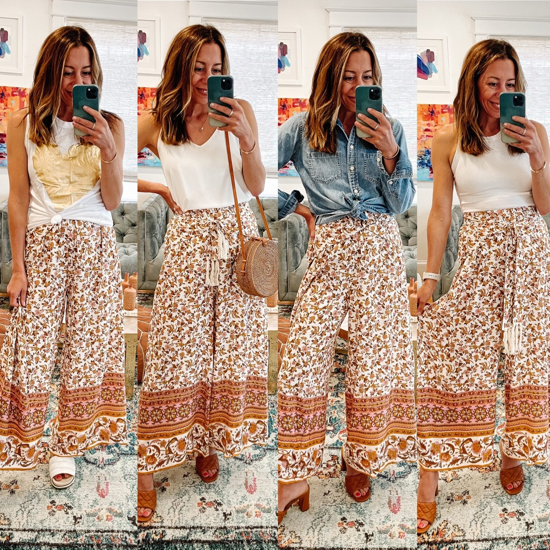 the motherchic wearing summer pants amazon