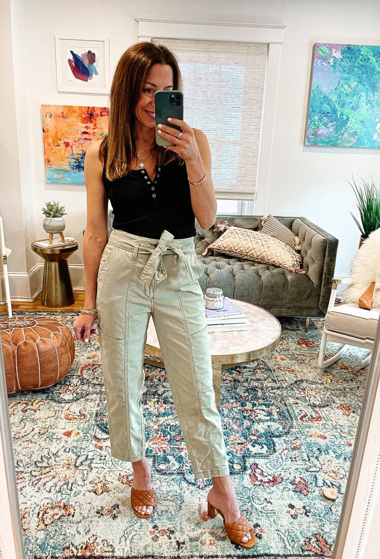 the motherchic wearing summer pants target