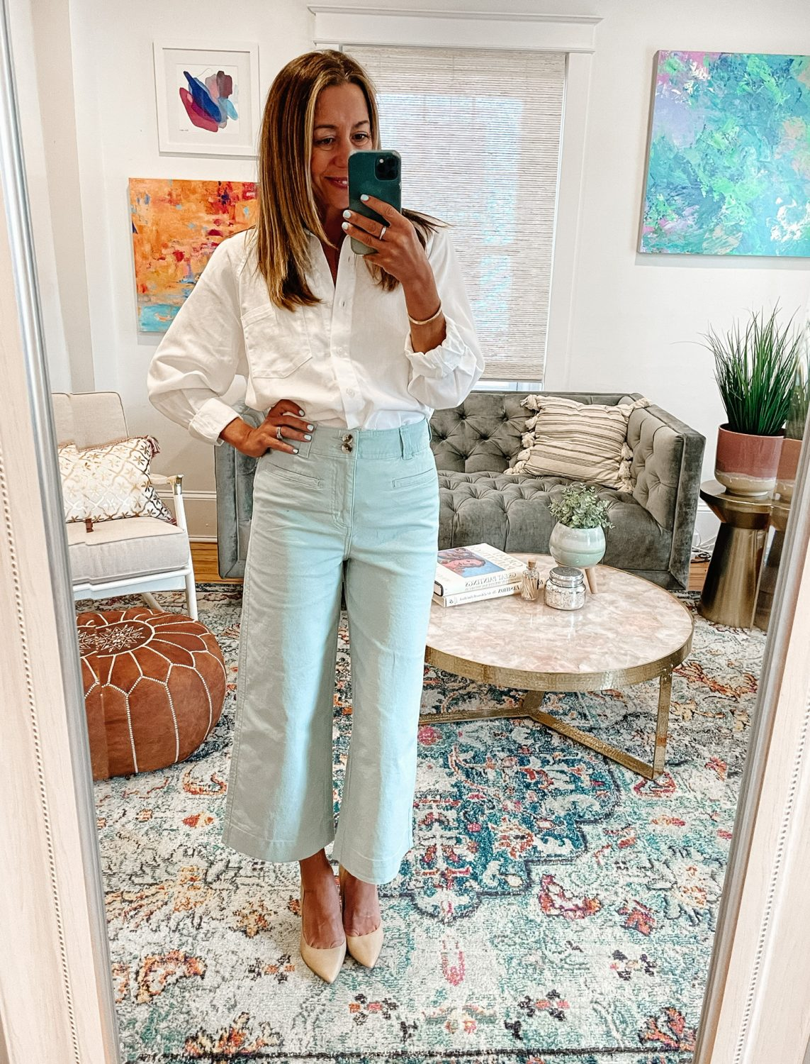 the motherchic wearing work outfits