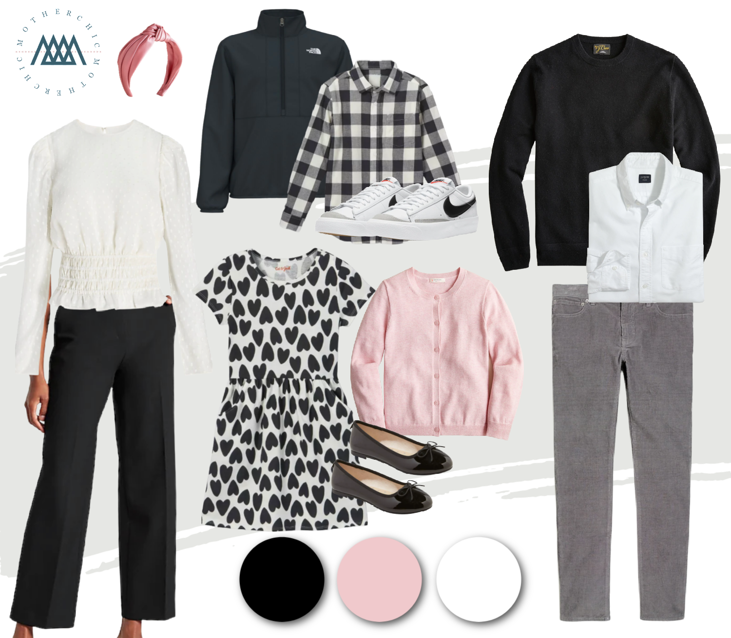 The motherchic family photo outfit ideas